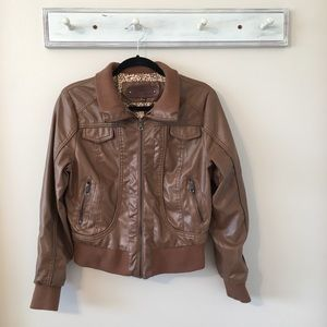 Ci Sono Faux Leather Jacket